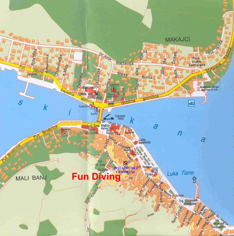 tisno and murter maps